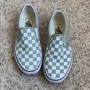 Women's Vans Checkered Slip Ons